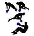 sportsman gesture silhouette 01 vector image vector image