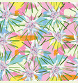 tropical pattern multicolor background vector image