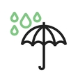 Umbrella with rain vector image