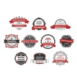 vintage labels and banners set vector image