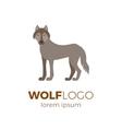 Flat wolf logo vector image
