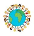 Children world friendship cartoon poster vector image