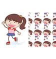 a seamless pattern on white simple kid vector image vector image