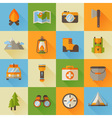 a set hiking flat icons in modern style vector image vector image