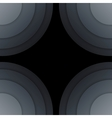 Abstract dark grey paper circles background vector image