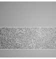 Abstract gray floral horizontal pattern background vector image