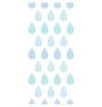Abstract textile blue rain drops stripes vertical vector image vector image