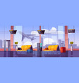 airport waiting room with airplane take off view vector image