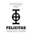 astrology asteroid felicitas vector image vector image