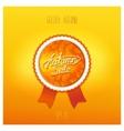 Autumn sale badge design vector image vector image