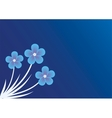 background with forget-me-not vector image vector image