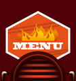 bbq label vector image vector image