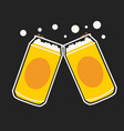beer can cartoon vector image vector image