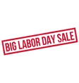 Big Labor Day Sale rubber stamp vector image