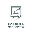 blackboardmathematics line icon vector image vector image