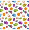 Bright colorful gift boxes on white background vector image vector image