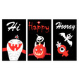 bright funny banners with monsters for halloween vector image