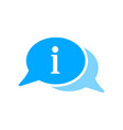 bubble chat information message icon vector image