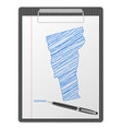 clipboard vermont map vector image vector image