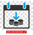 Coins Income Calendar Day Eps Icon vector image vector image