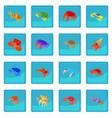 crab icon blue app vector image