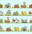 different city town buildings street view vector image vector image