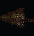 director word cloud concept vector image vector image