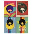 Disco party event flyers set Collection of the vector image vector image
