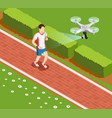 drone coaching composition vector image vector image