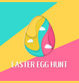 easter egg hunt banner with a lettering and clouds vector image vector image