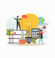 education and professional career self education vector image vector image