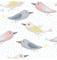 Fantastic birds pattern vector image