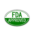 FDA approved oval sticker vector image