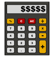 Financial calculator vector image