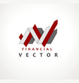 financial stock exchange market charts logo design vector image vector image