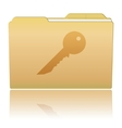 Folder with Key vector image vector image