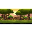 forest game background vector image vector image