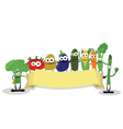 Funny Veggies Banner vector image vector image