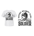 german soldier t-shirt print for military club vector image