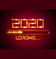 gold happy new year 2020 with loading icon golden vector image