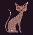 gold rose cat with red eyes vector image vector image