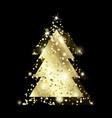 gold xmas tree 2 exp-11 vector image vector image