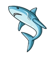 Great white shark icon in cartoon style isolated