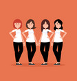 group women people a happy concept women smile vector image vector image