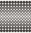 halftone circles seamless pattern abstract vector image vector image