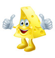 happy cartoon cheese man vector image vector image