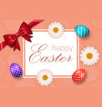happy easter background egg texture greeting vector image