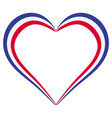 heart shape flag of france i love france vector image vector image
