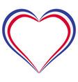 heart shape flag of france i love france vector image