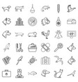 hospital icons set outline style vector image vector image